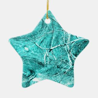 Tree Limb Fractal Themed Merchandise Double-Sided Star Ceramic Christmas Ornament