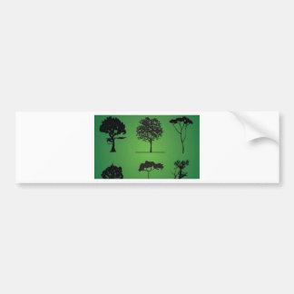 Tree line bumper sticker