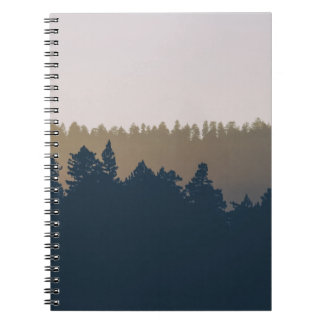 Tree line silhouette notebook