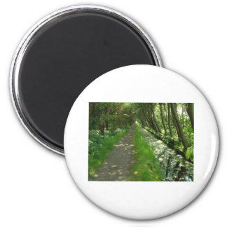 tree lined 2 inch round magnet
