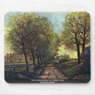 Tree-Lined Avenue In A Small Town By Sisley Alfred Mousepad