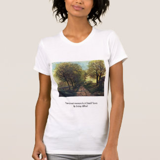 Tree-Lined Avenue In A Small Town By Sisley Alfred Tee Shirt