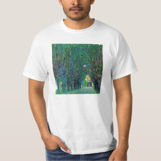 Tree lined avenue painting by Gustav Klimt art T-Shirt