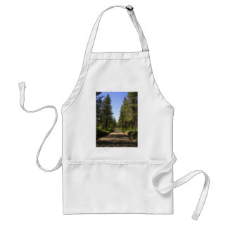 Tree lined dirt road adult apron
