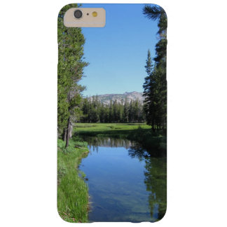 Tree-Lined River Meadow with Mountain Vista Photo Barely There iPhone 6 Plus Case