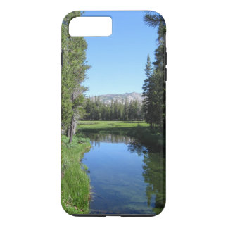 Tree-Lined River Meadow with Mountain Vista Photo iPhone 7 Plus Case