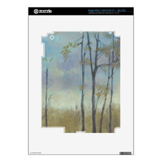 Tree-Lined Wheat Grass I Decal For iPad 3