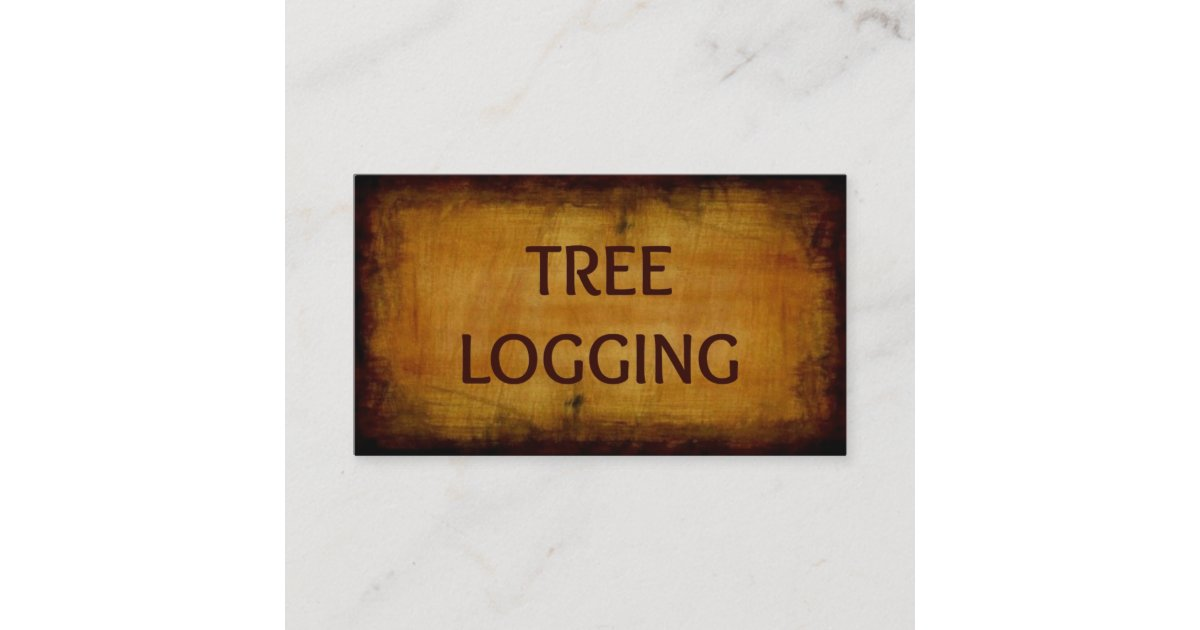 Tree Logging Antique Business Card | Zazzle.com