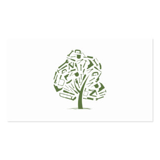 Tree Logo Double-Sided Standard Business Cards (Pack Of 100)