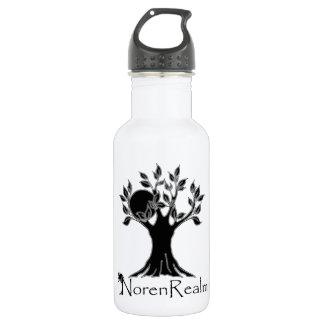 Tree logo- realm black2.png 18oz water bottle