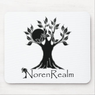 Tree logo- realm black.png mouse pad