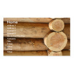 Tree logs business card templates