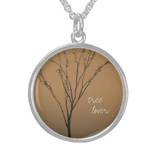 Tree Lover  Brown Tree Art necklace