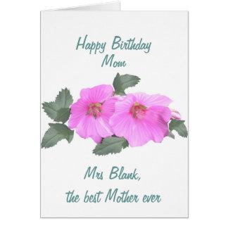 Tree mallow Birthday card MOM customize