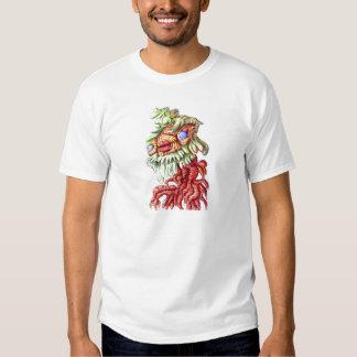 Tree Man Plant Leaves Roots Cartoon T Shirt