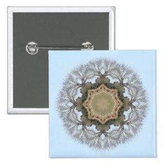 Tree Mandala Pinback Button