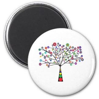 Tree Mantaka 2 Inch Round Magnet