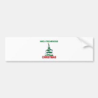 Tree-Mendous Christmas Bumper Sticker