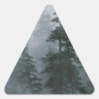 Tree Mist Storm Mount Hood Triangle Sticker