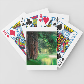 Tree Misty Reflections Yosemite Playing Cards