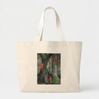 Tree monkey neon optical illusion tote bag