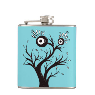 Tree Monster Weird Ink Drawing Flask