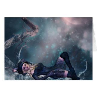 Tree Moon Fairy A Card