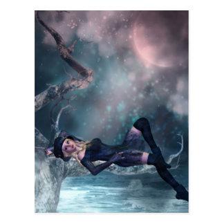 Tree Moon Fairy A Postcard