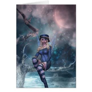 Tree Moon Fairy B Card