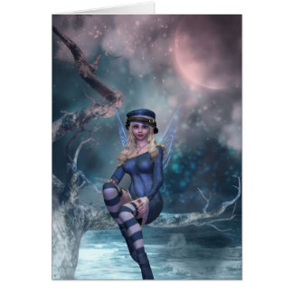 Tree Moon Fairy B Greeting Card