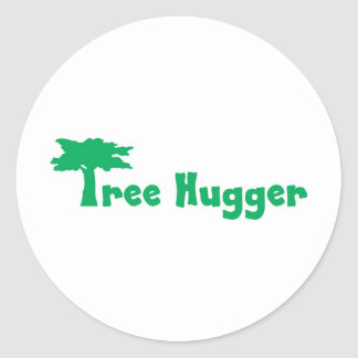 tree more hugger classic round sticker