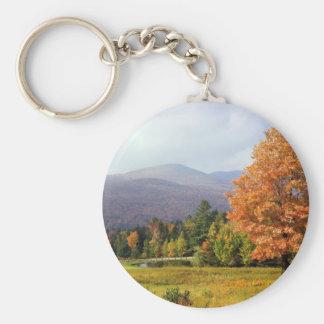 Tree Mount Mansfield Vermont Keychain