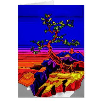 Tree & Mountains Greeting Card