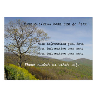 Tree Mountains valleys Business Cards