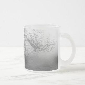 tree frosted glass mug