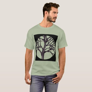 Tree Nature Spirituality Silhouette Trees Forest T-Shirt