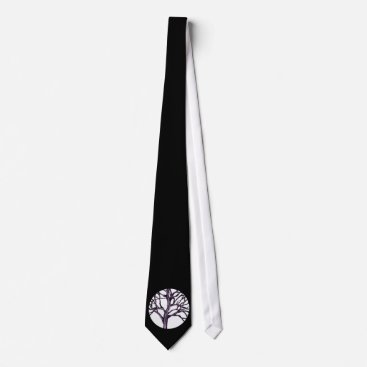 Halloween Themed Tree Nature Spirituality Silhouette Trees Gothic Tie
