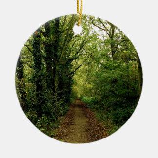 Tree Natures Pathway Ceramic Ornament