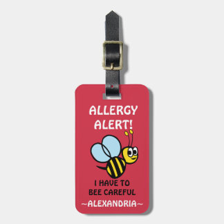 Tree Nut Allergy Alert Bumble Bee Tag