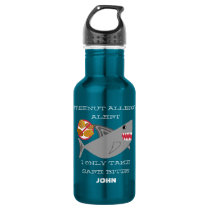 Tree Nut Allergy Alert Shark Personalized Boys Water Bottle