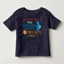 Tree Nut Allergy Alert Superhero Boys Shirt