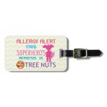 Tree Nut Allergy Superhero Alert for Medical Kit Bag Tag