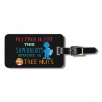 Tree Nut Allergy Superhero Alert for Medical Kit Luggage Tag