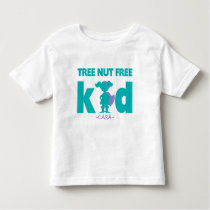 Tree Nut Free Allergy Alert Girl Superhero Shirt