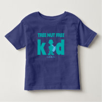 Tree Nut Free Allergy Boy Superhero Personalized Toddler T-shirt