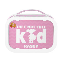 Tree Nut Free Kid Girl Superhero Pink Lunch Box