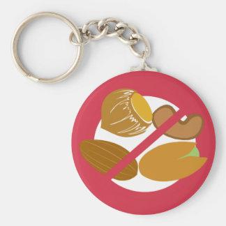 Tree Nut Free Symbol Red Nut Allergy Kids Keychain
