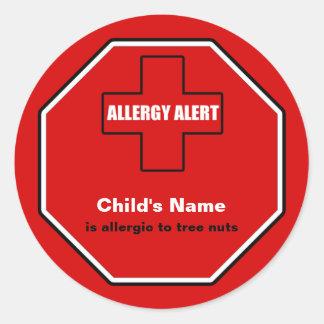 Tree Nuts Allergy Medical Alert Custom Sml Sticker