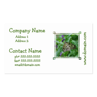 Tree Nymph Butterfly Double-Sided Standard Business Cards (Pack Of 100)