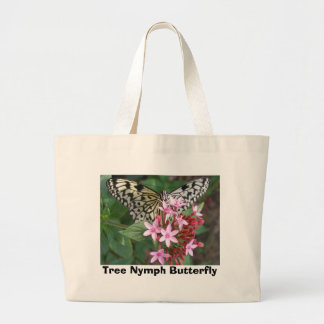 Tree Nymph Butterfly Large Tote Bag